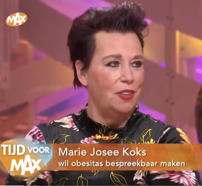 Marie-josee bij omroep max - obesitas dag - bariatrie groep nederland